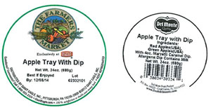 Label, The Farmers Market Apple Tray With Dip, 24 oz.