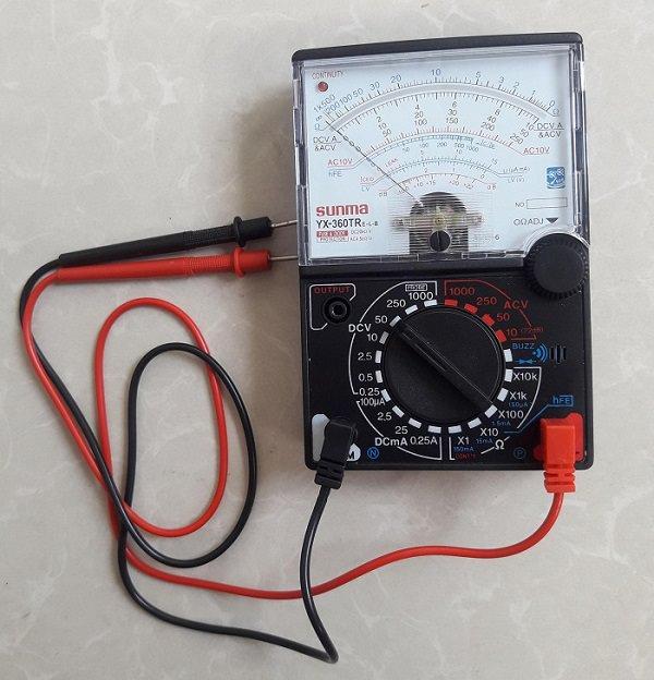 Đồng hồ vạn năng kim - cách nhận biết tụ điện bị hỏng đơn giản