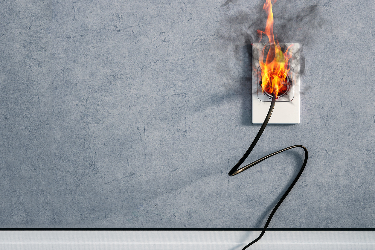 electrical fire in outlet