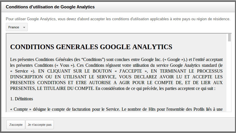 Image Conditions Générales Google Analytics