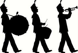 Marching Band wall sticker, vinyl decal | Silhouette clip art, Marching band,  Marching band decor
