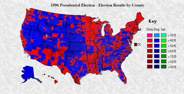 Mike Pence Says Donald Trump Won Most Counties By A Republican - 1992 election us map