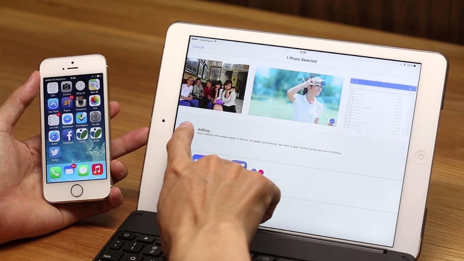 Chức năng Airdrop trên iPhone, iPad