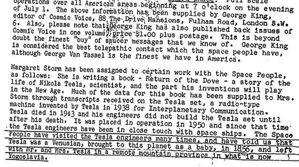 Tuyên bố trong tài liệu của FBI rằng Tesla là một người sao Kim