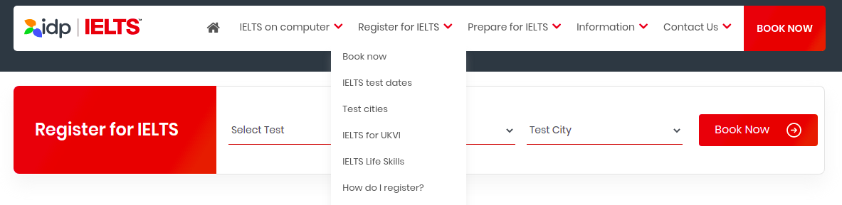 Register for IELTS