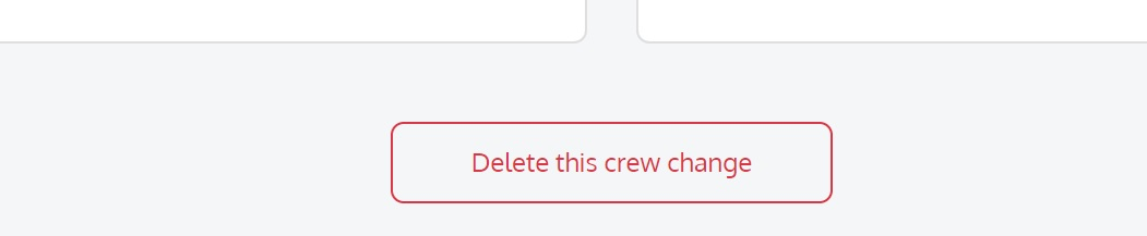screenshot of the Martide website showing the delete this crew change button