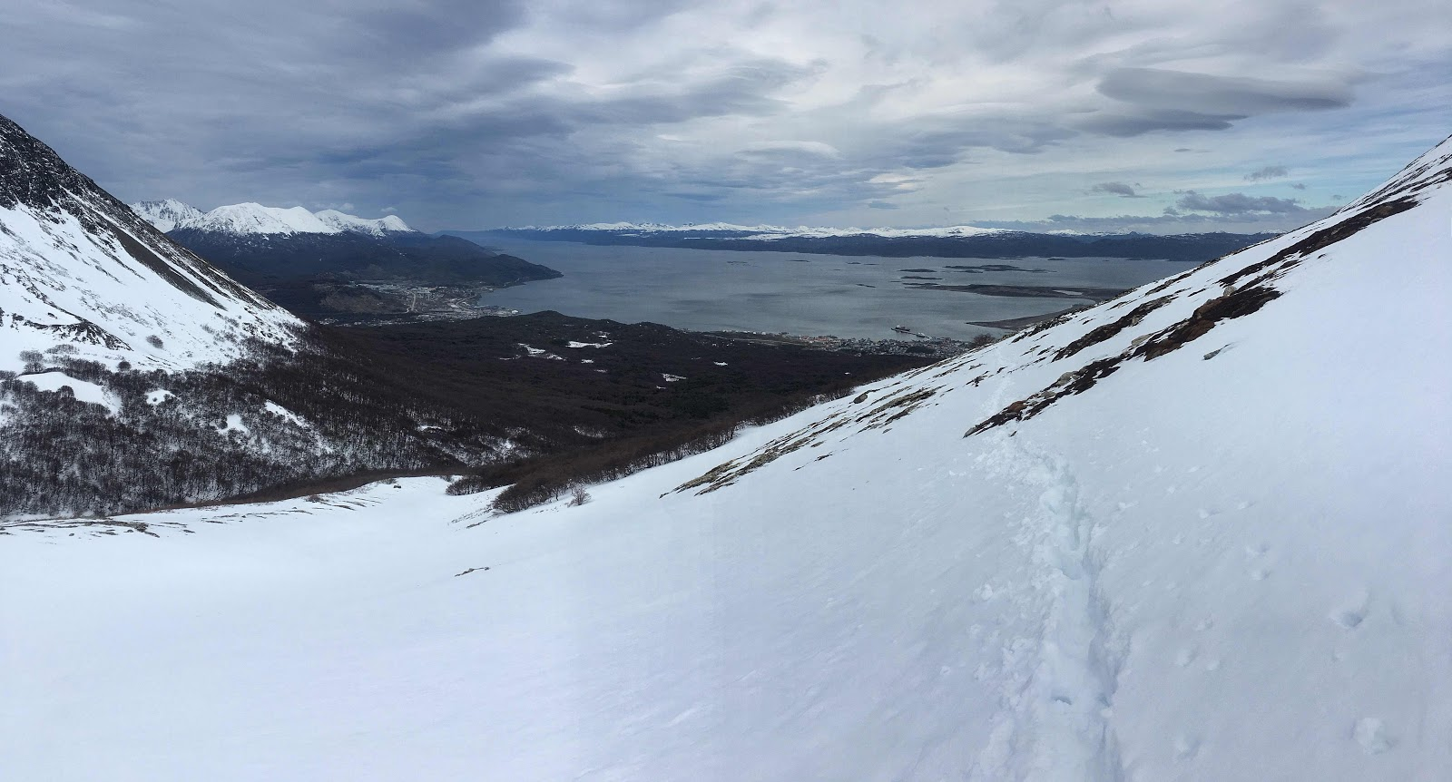 Views of the Beagle Channel from the Cerro del Medio trail. Ushuaia, Argentina