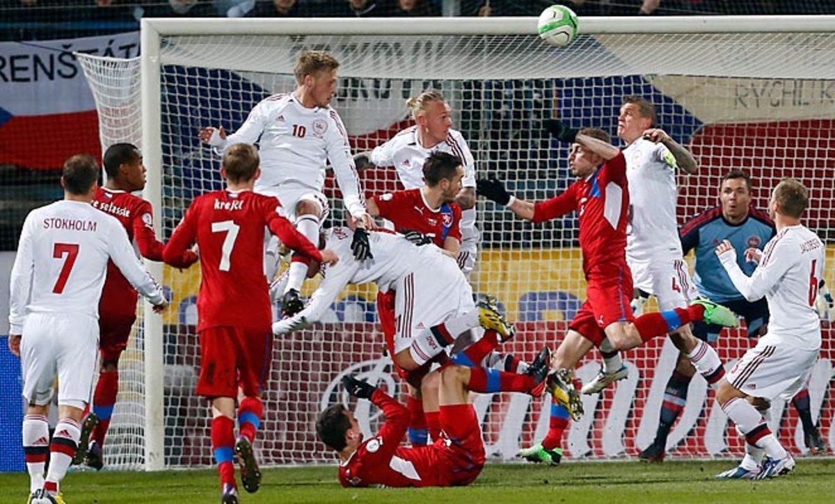 Ở lần đối đầu gần nhất giữa Séc và Đan Mạch thì trận đấu có kết quả hòa
