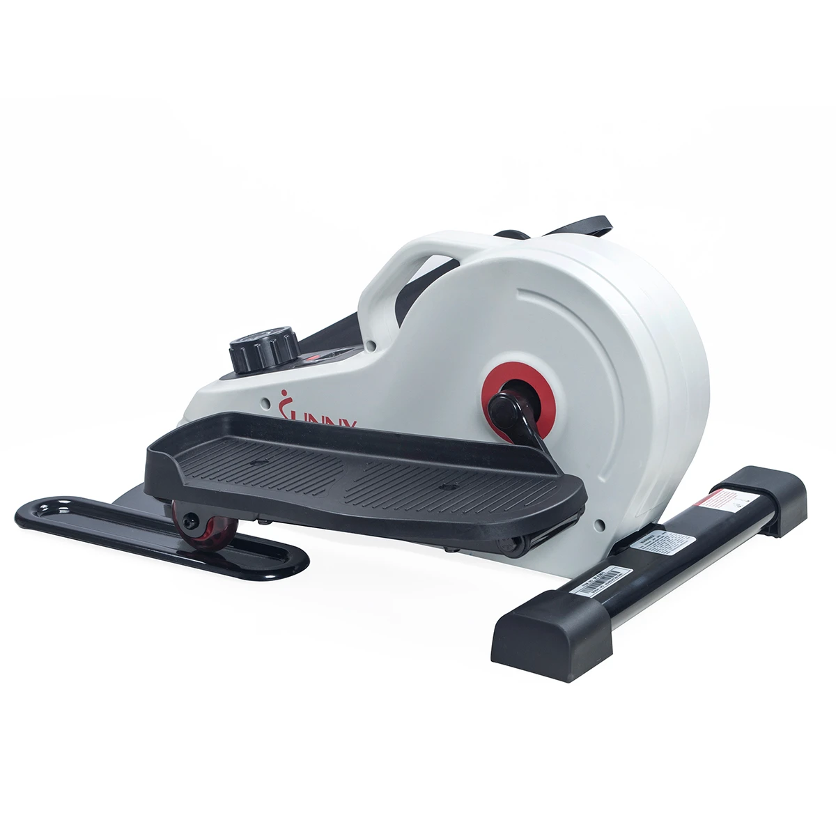 Sunny Health & Fitness Fully Assembled Magnetic Under Desk Elliptical has 8 resistance levels that can be adjusted