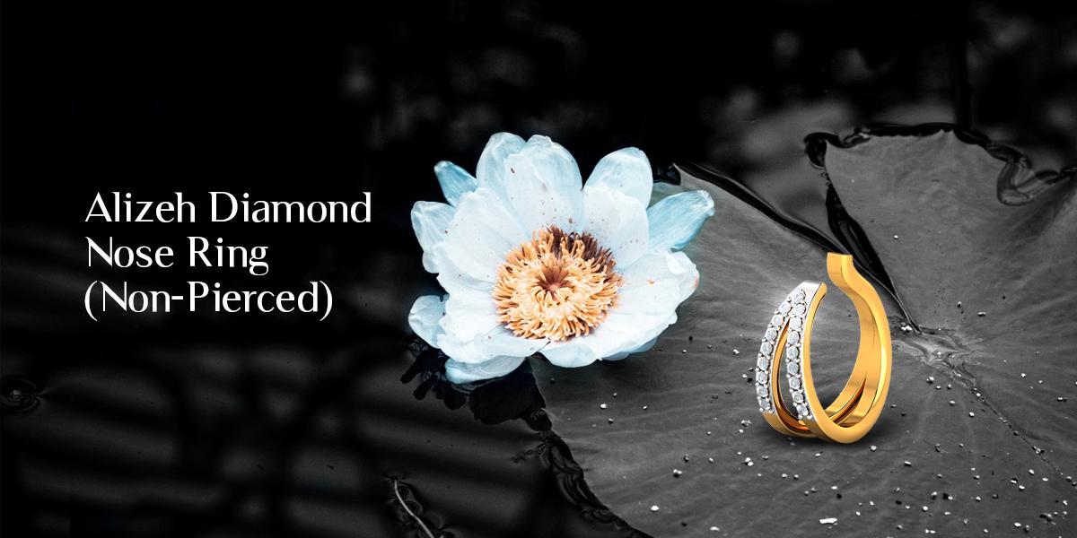 diamond non pierced nose ring