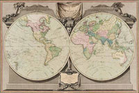 A New map of the world, with Captain Cook's tracks