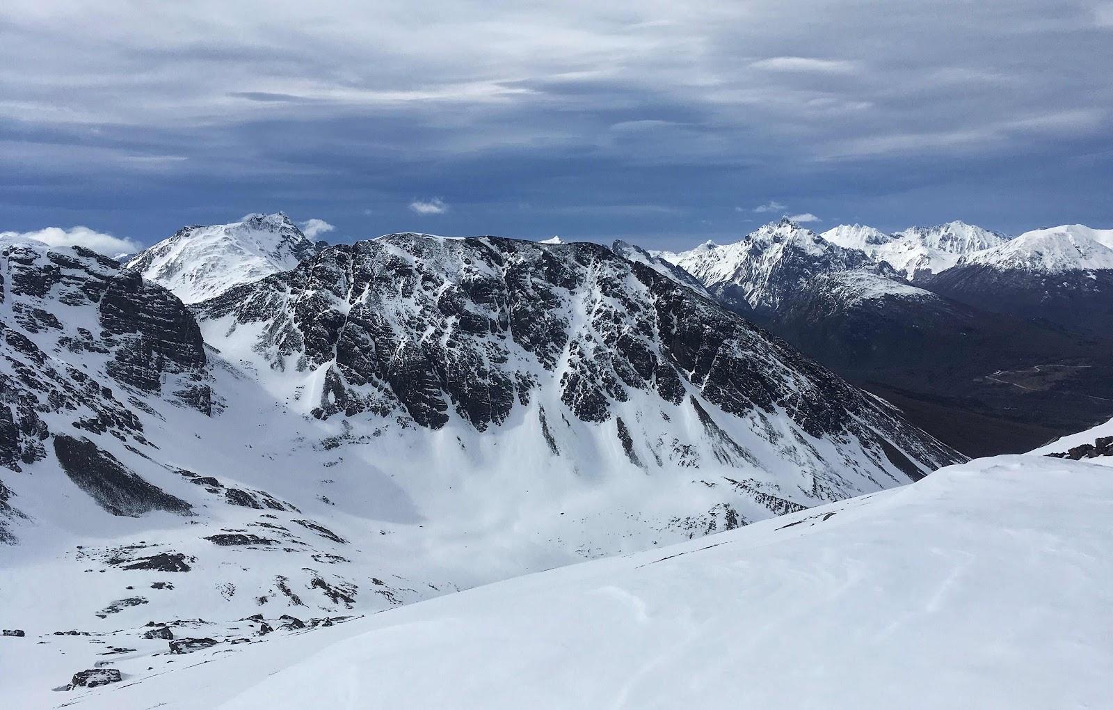 Descending Cerro del Medio. Ushuaia, Argentina