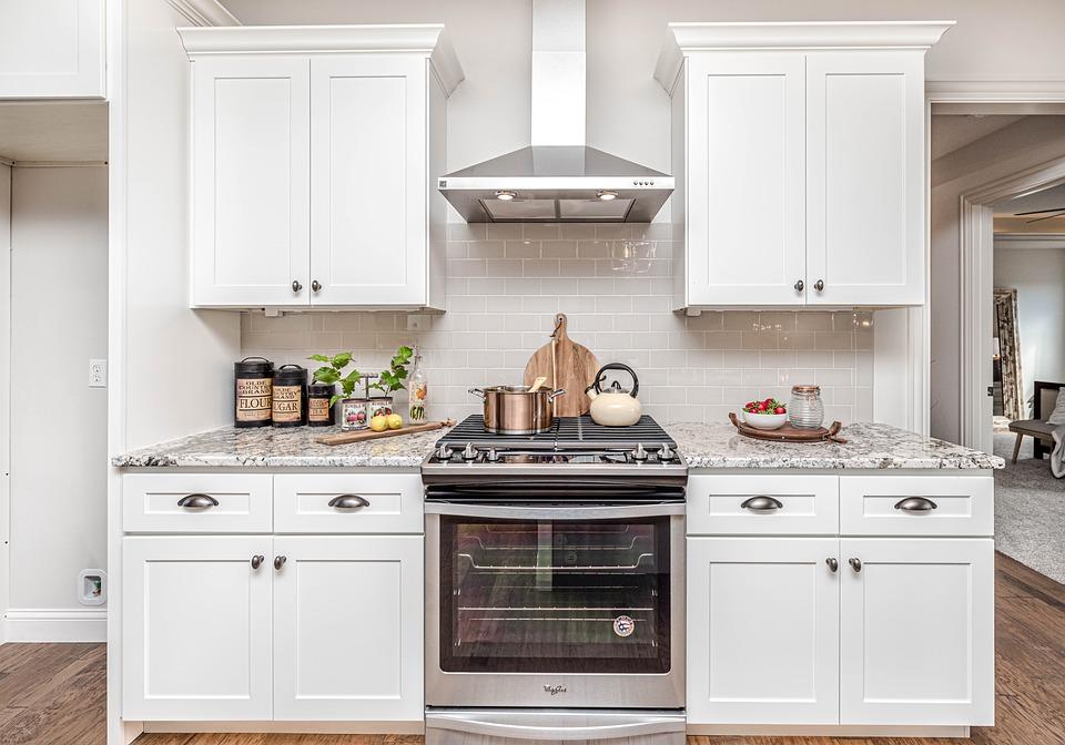 White Modular Kitchen Cabinets