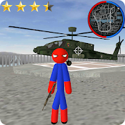 Spider Stickman Rope Hero Gangster
