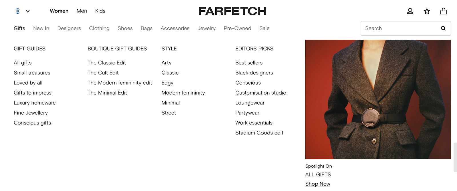 Farfetch's gift guides