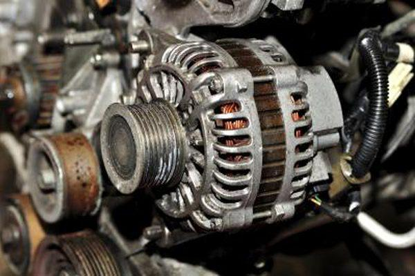 The alternator of a car