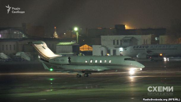 Літак Bombardier Global Express 6000 з австрійською реєстрацією та бортовим номером OE-IDO, яким постійно користується Віктор Пінчук