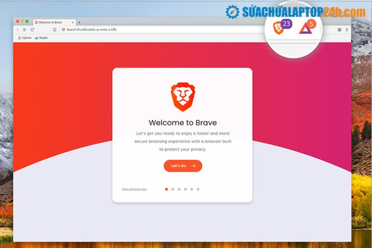 Trình duyệt mã nguồn mở Brave