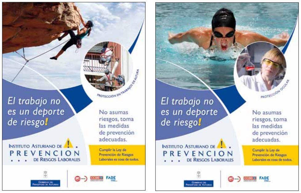 Carteles PRL Instituto Asturiano de Prevención de Riesgos Laborales