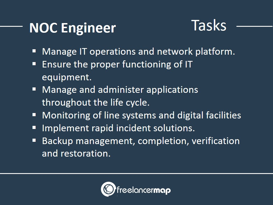 Responsibilities and daily tasks of NOC engineers