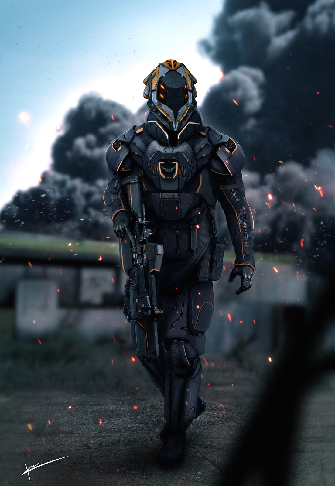 Futuristic Warrior Soldier by ikaccass | Concept Art | 2D | CGSociety