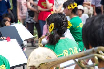 北竜中学校吹奏楽部演奏:ひまわりの耳飾り