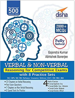 Verbal & Non-Verbal Reasoning By Disha Publication