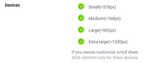 device optimmization for sticky header