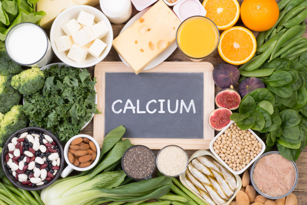 calcium from different food sources beans, greens, nuts