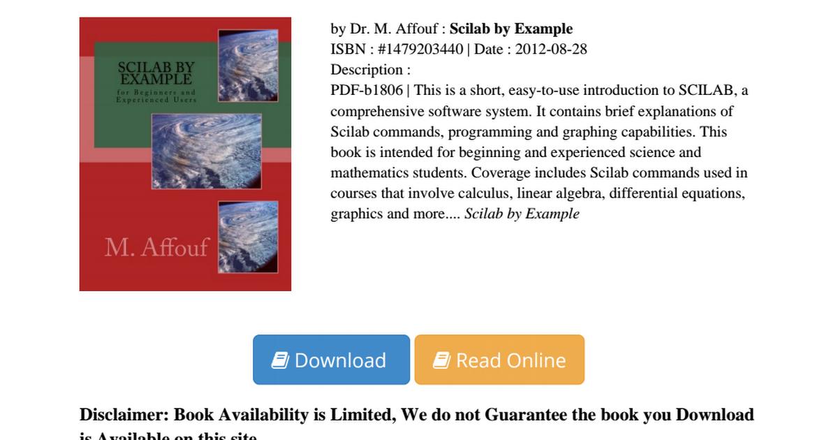 Scilab-Example-Dr-M-Affouf-PDF-683c9409f pdf - Google Drive