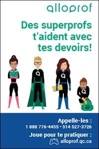 Affiche Alloprof Superprofs - Pour les élèves du primaire - Maximum 20 affiches