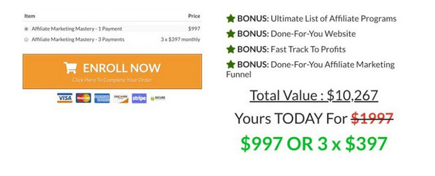 Stefan James Review: Affiliate Marketing Mastery Review - Checkout