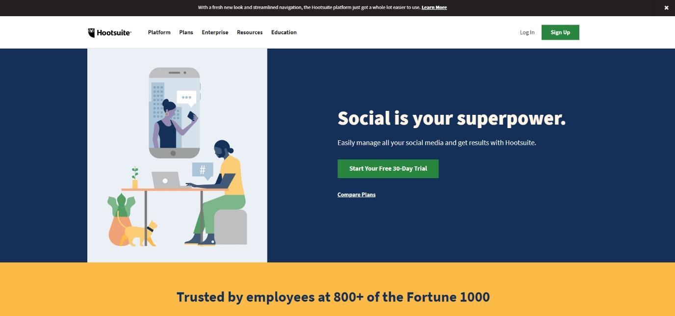 Try social media management online tool