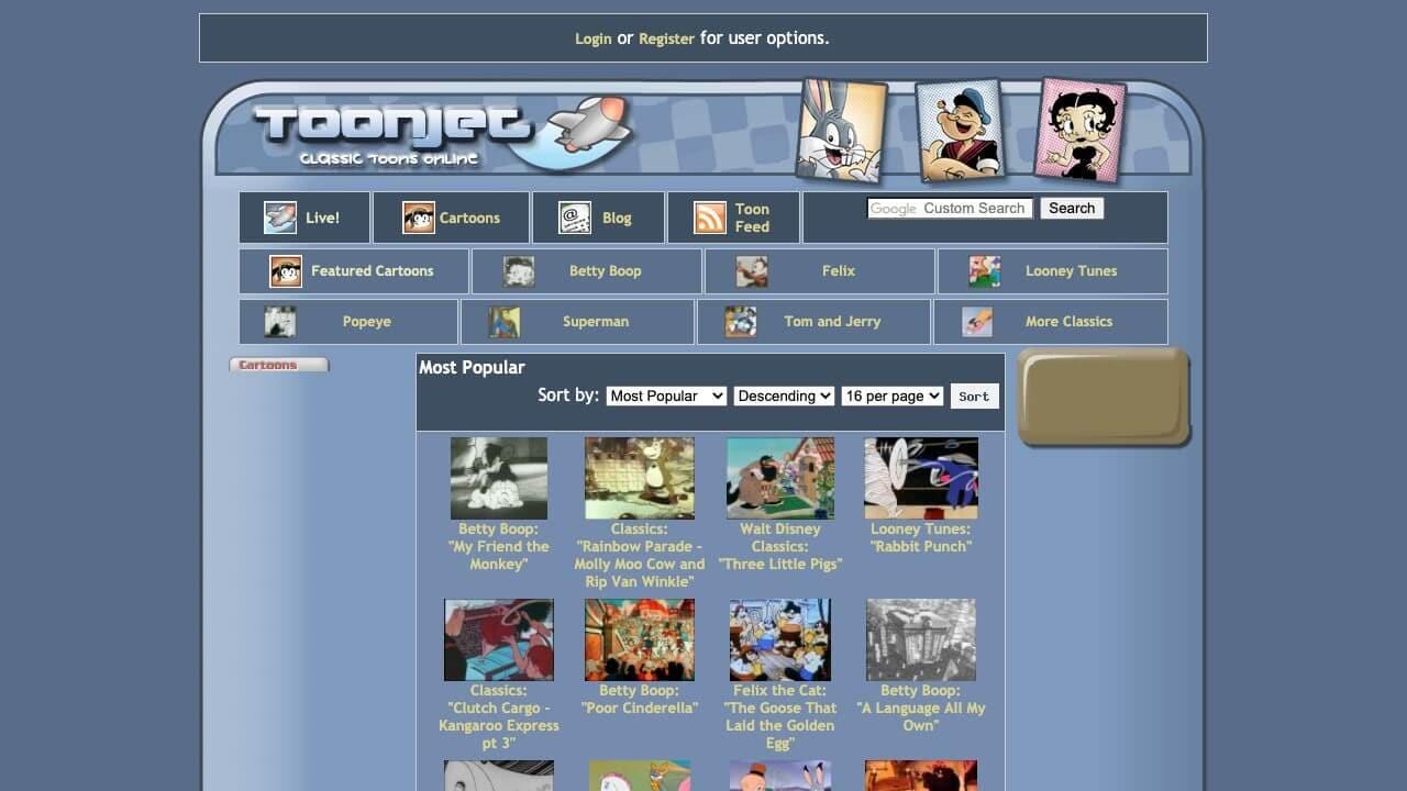 watch cartoon online on toonjet cartoon