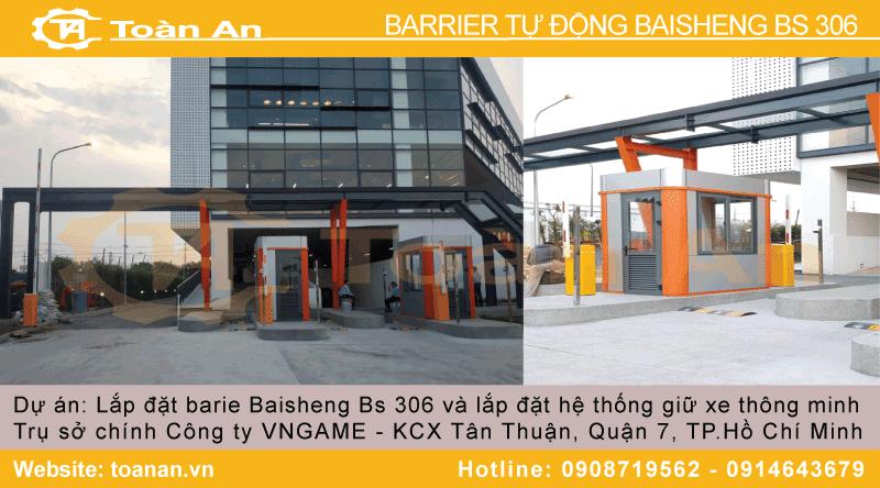 Dự án lắp đặt barrier tự động baisheng bs 306 cho công ty vngame