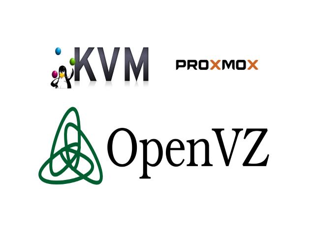 KVM, OpenVZ, Proxmox
