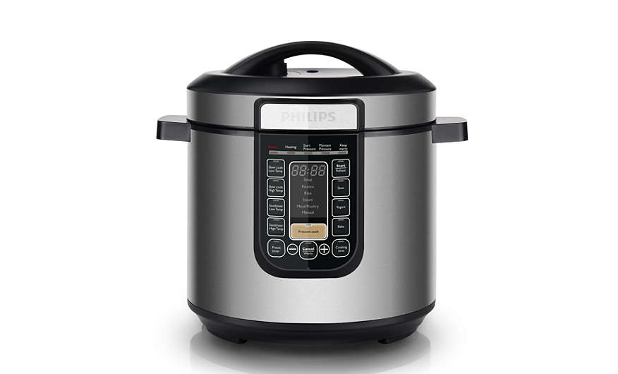 Phillip All-In-One Pressure cooker is able to pressure cook, non-pressure cook, saute and keep warm. Source: Phillip