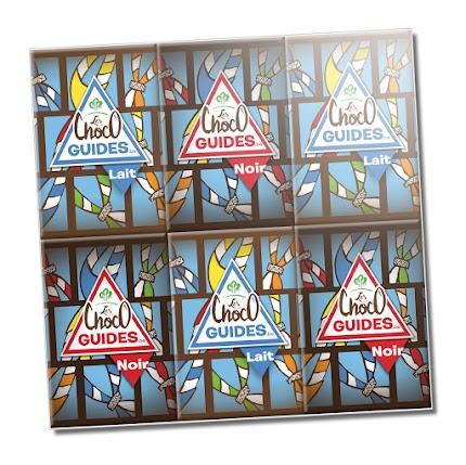 120 g de chocolat; 6 mignonnettes de noir, 6 mignonnettes de lait; 6 stickers totem à collectionner à l'intérieur :
