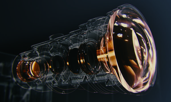 Le bloc optique du JVC DLA-N5 garantit un excellent piqué d'image.