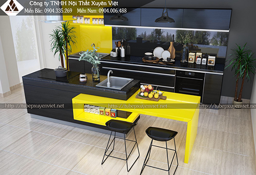 Mẫu tủ bếp đẹp bằng nhựa hình 11
