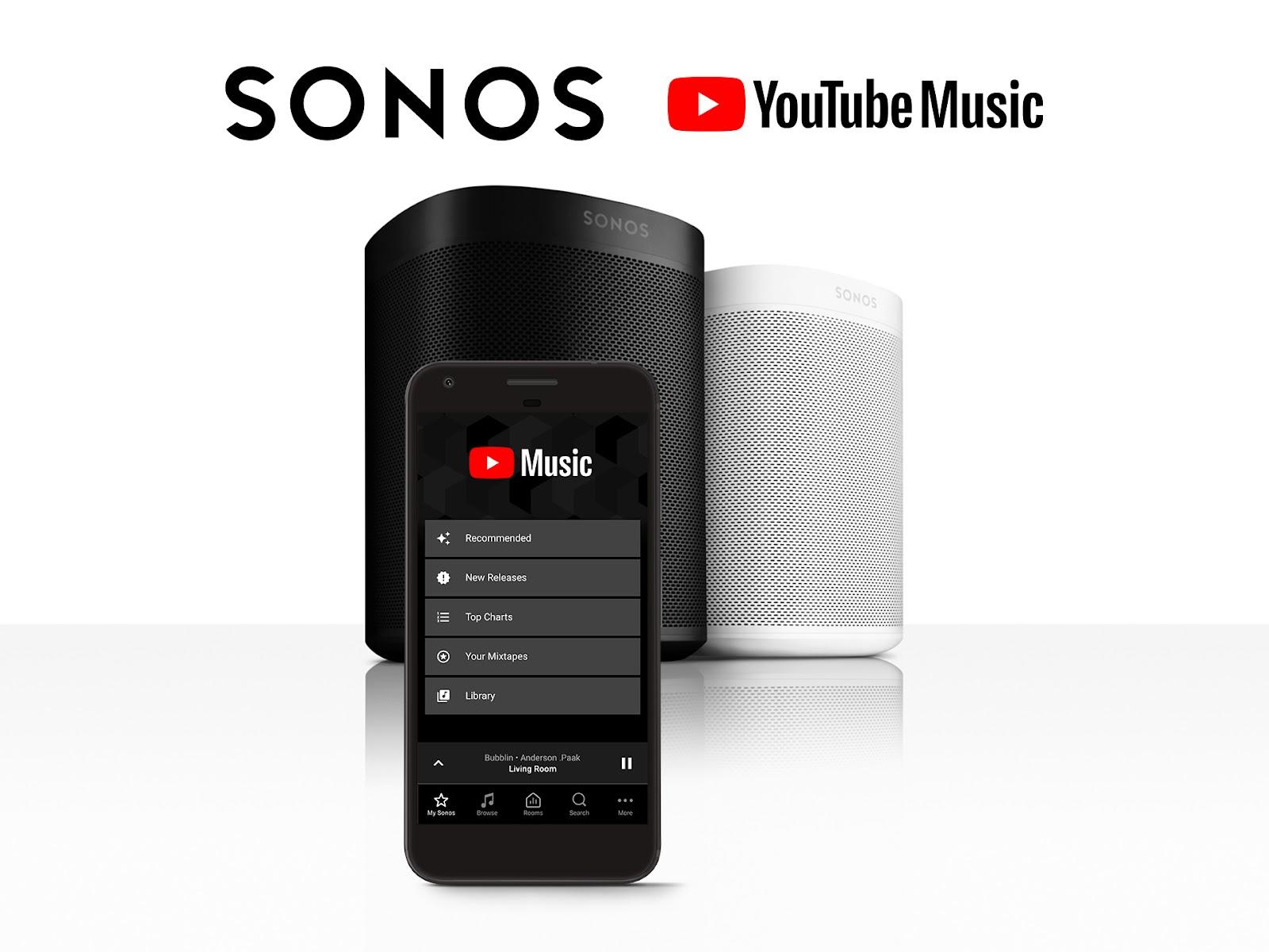 YouTube Music já disponível nas colunas Sonos 1