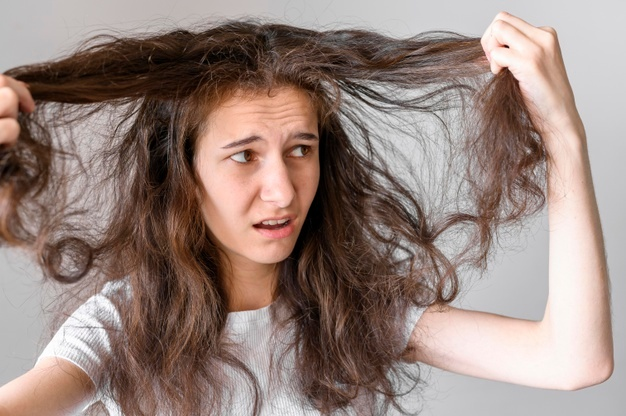 Get knots out of hair