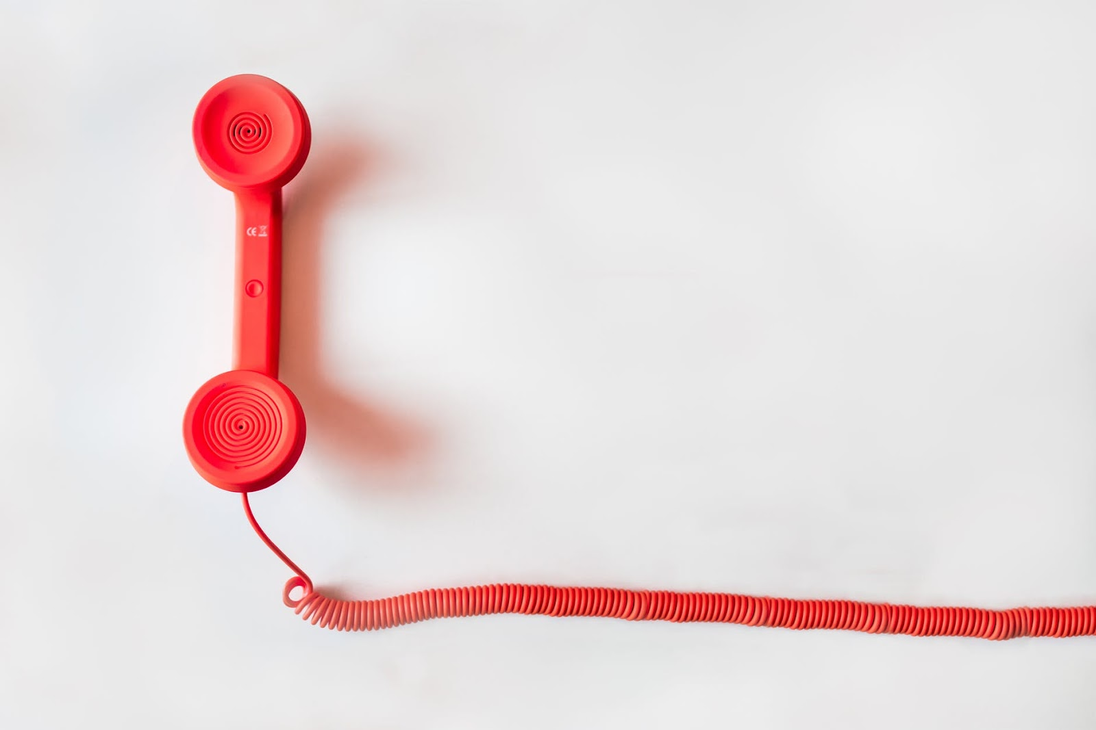 red wired phone