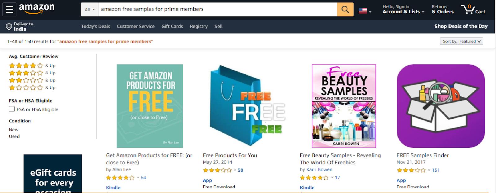 get free stuff from amazone