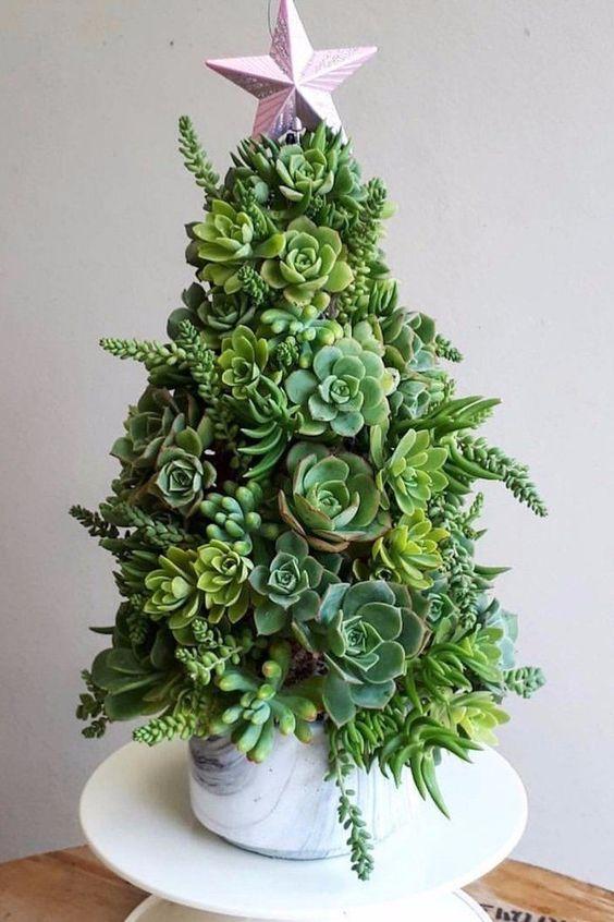 Succulent Christmas Tree Decoration