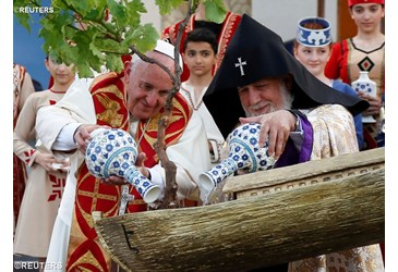 pope francis and karekin