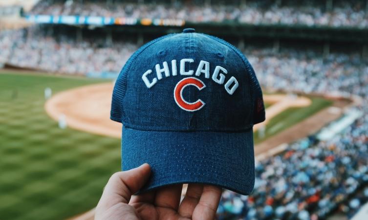 Cubs hat in Wrigley Field