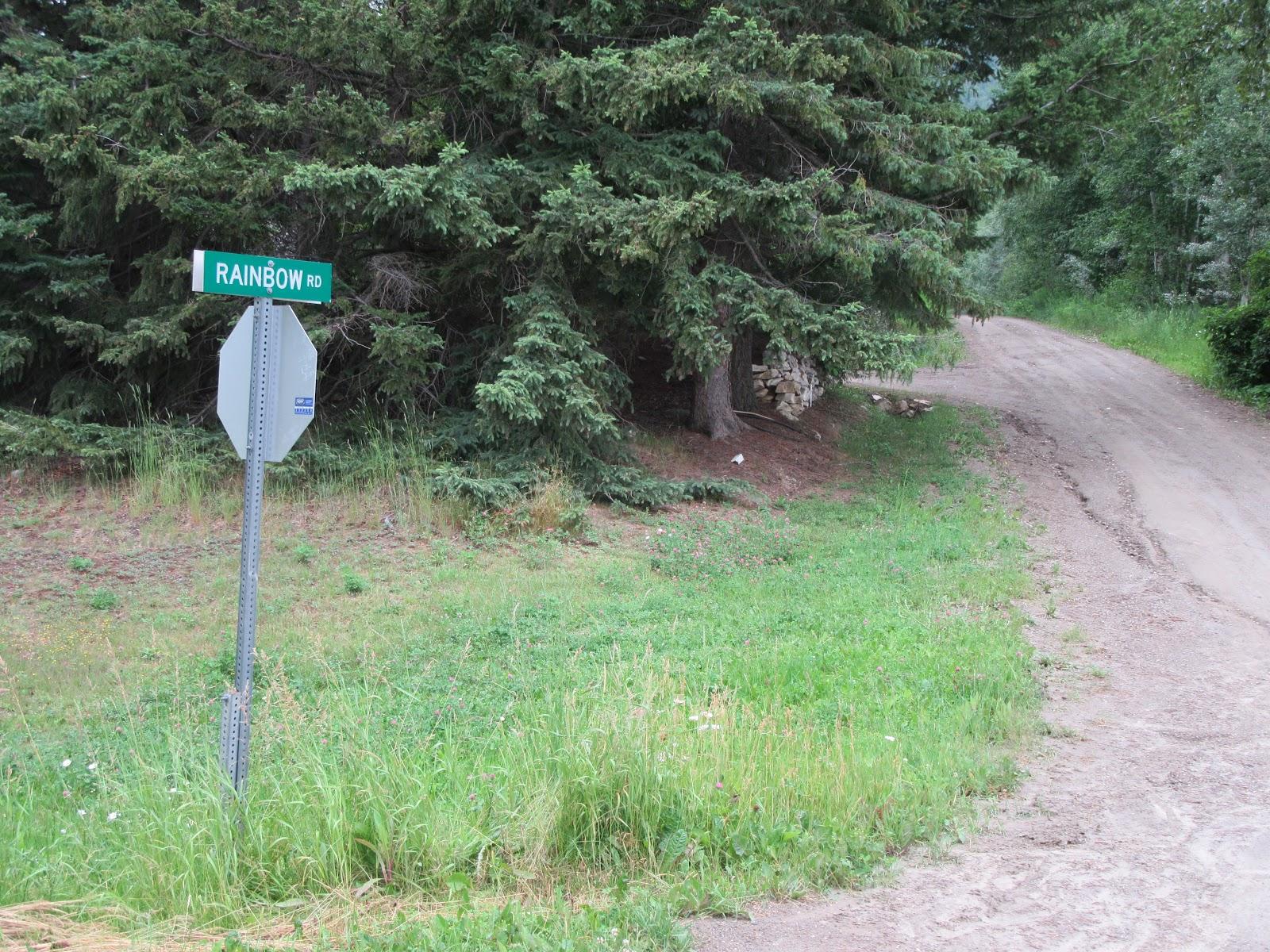 Cycling McBride Peak - road sign and road at start