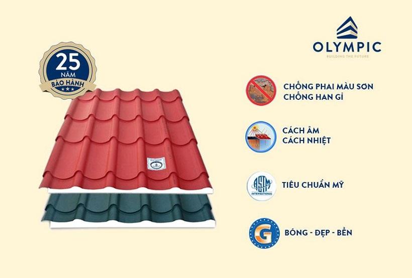 Tôn lợp mái cao cấp Olympic kim cương với nhiều ưu điểm vượt trội