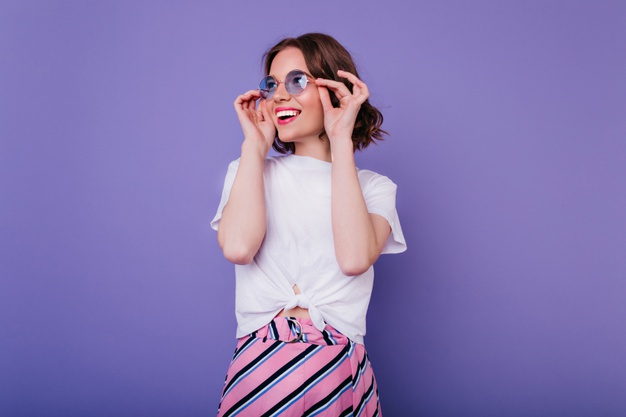 Purple /Blue Tinted Glasses